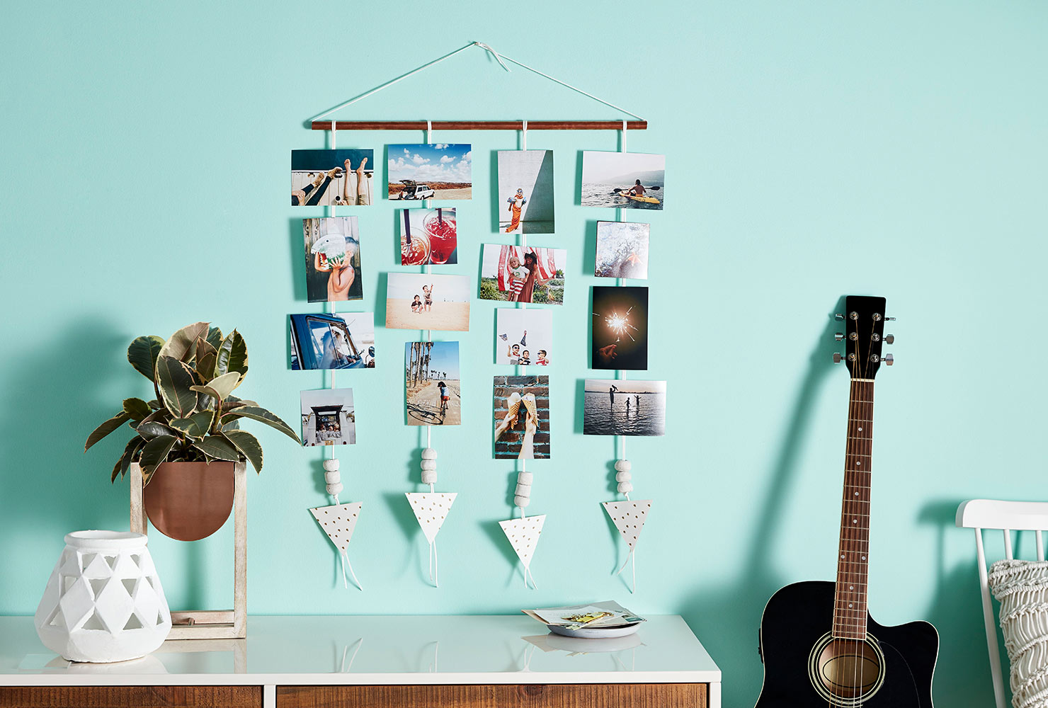 How to Decorate an Empty Wall mint teal