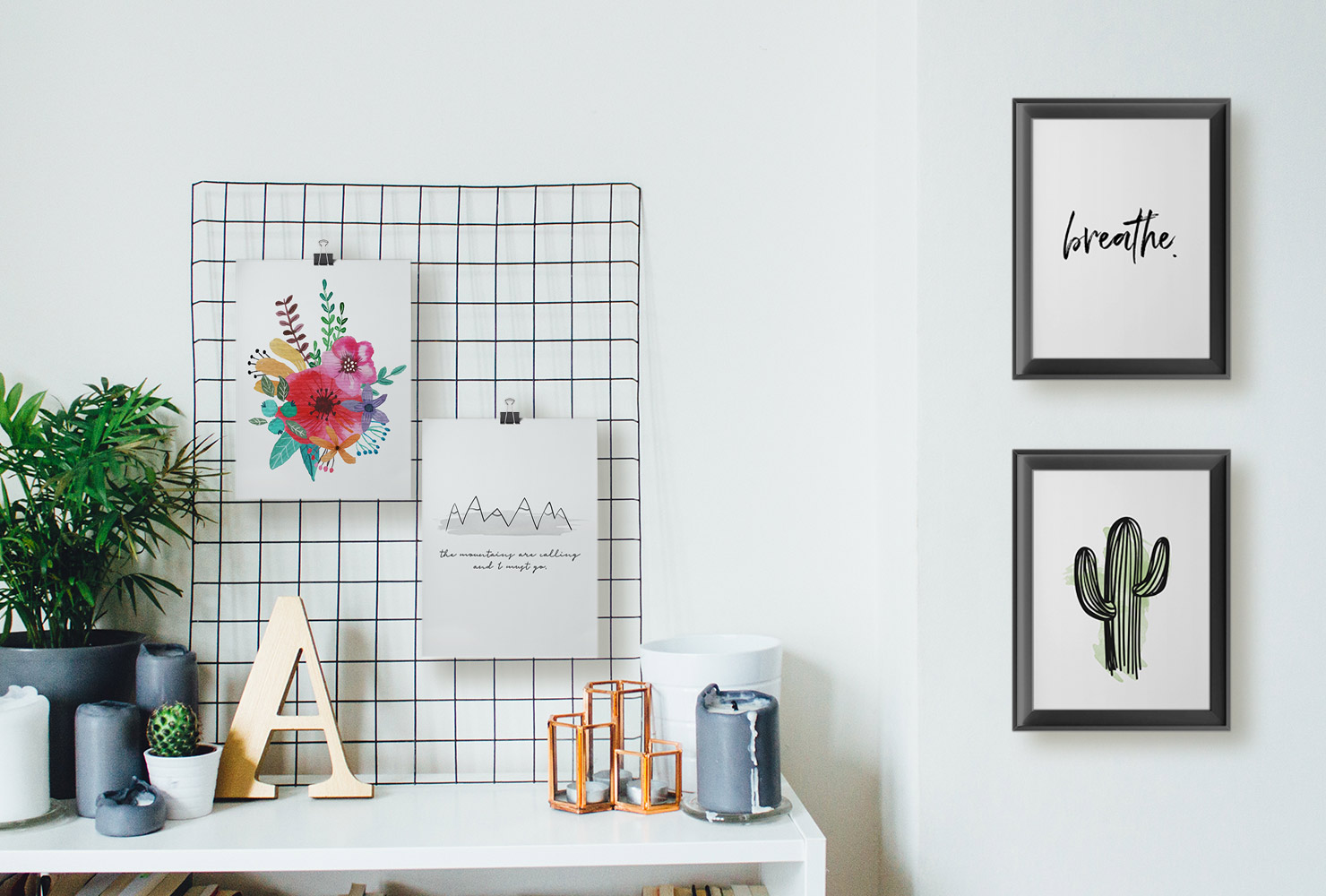 How to Decorate an Empty Wall white rack