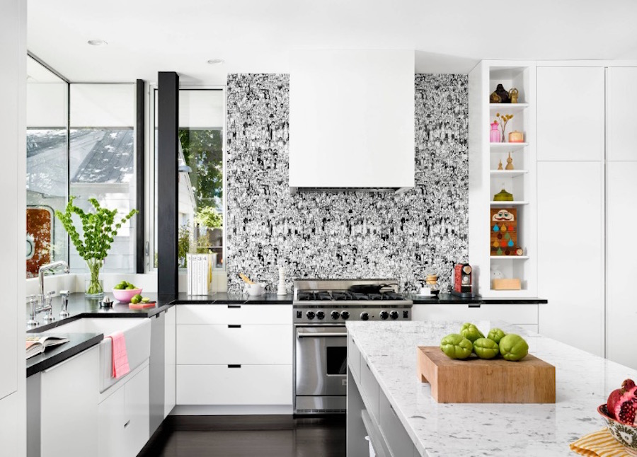 Five Insanely Fun Ways to Wallpaper Your Kitchen white