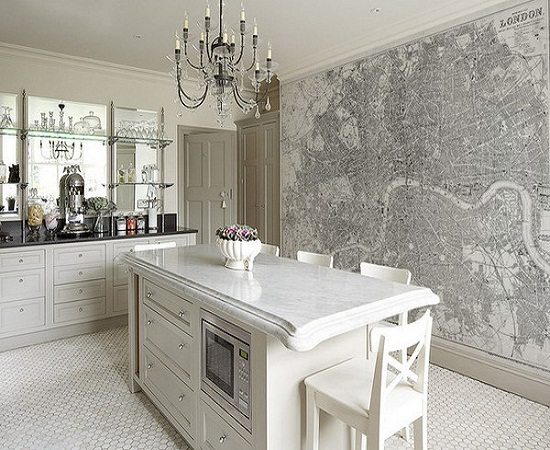 Five Insanely Fun Ways to Wallpaper Your Kitchen gray
