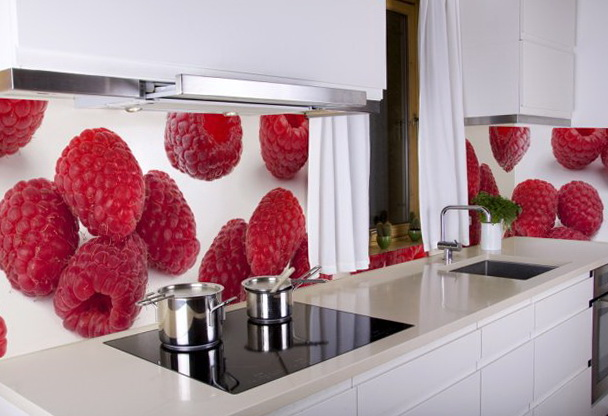 Five Insanely Fun Ways to Wallpaper Your Kitchen raspberries