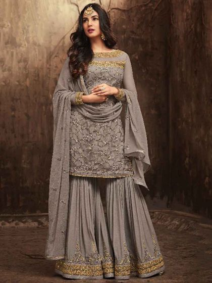 Indian Salwar Kameez & The Fusion Fashion grey