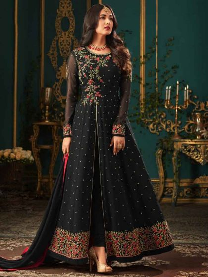 Indian Salwar Kameez & The Fusion Fashion black