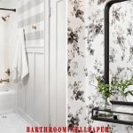 Make Your shower Look Super Artsy with Bathroom Wallpaper