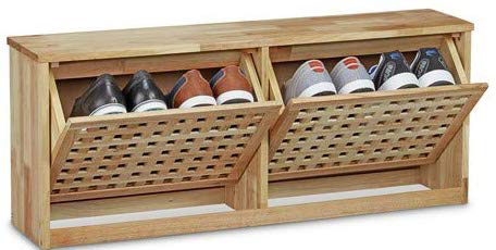 wood shoe rack