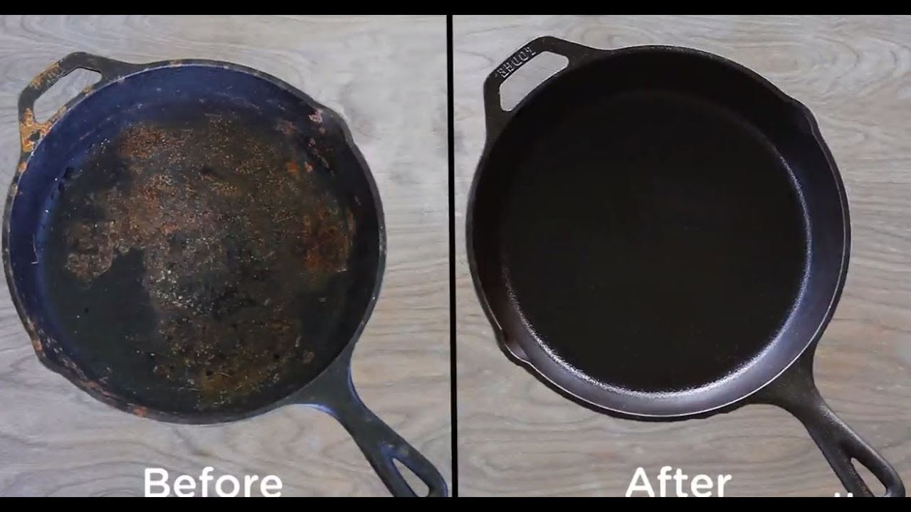 how to clean cast iron skillet