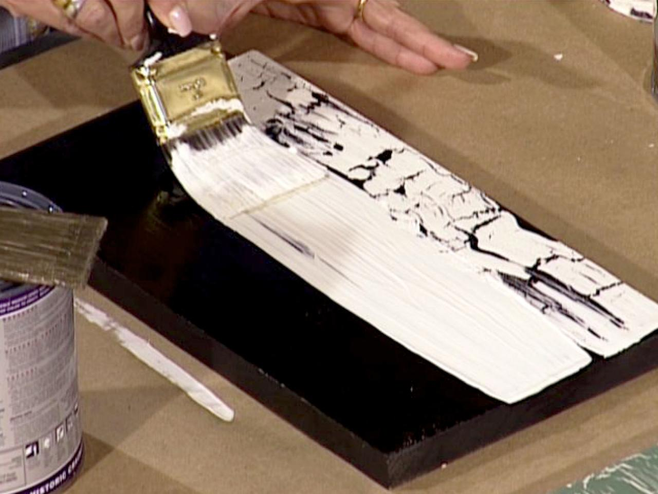 how to make crackle paint