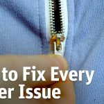 How to fix a zipper on jeans without tools