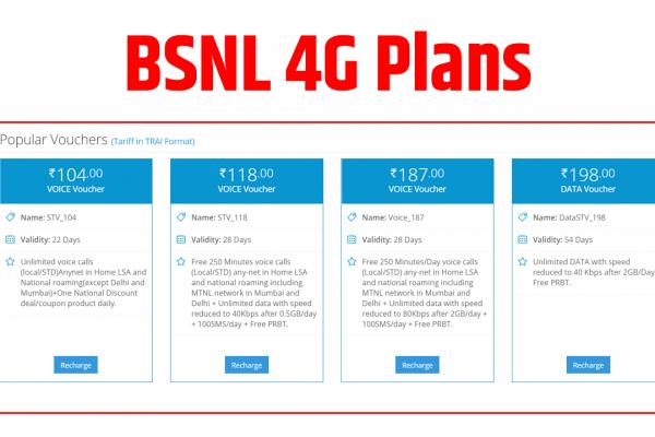 bsnl 4g data plans